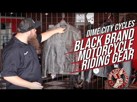 Black Brand Motorcycle Riding Gear
