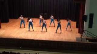The Majorettes of Gwendolyn Brooks perform at Morgan Park's Emerald Dance Showcase 2015. This was choreographed by...