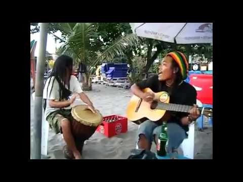 Amazing Street Musicians in Bali Sing a song REGGAE, Th ...