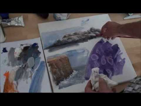 Malen mit Acryl: Felsen und Klippen