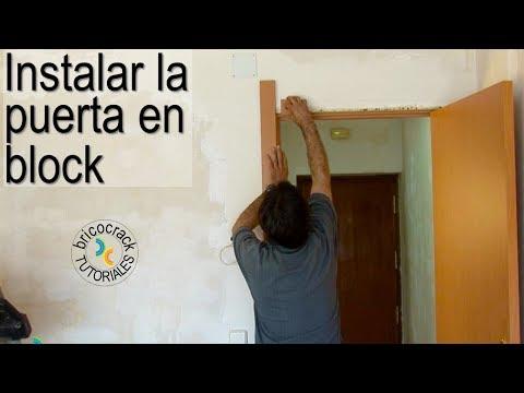 Carpintería: instalar una puerta de paso en block (BricocrackTV)