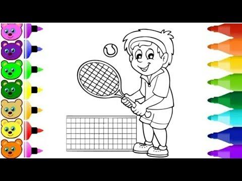 Menggambar orang lagi olahraga