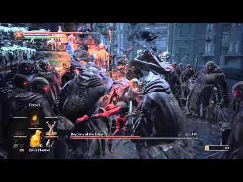 Dark Souls 3 - Boss  - Deacons of the Deep - Naked Dagger Build