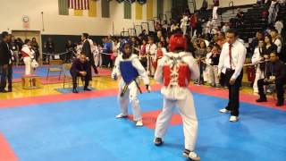 Taekwondo Best Sparring Kicks / KO 12 year old USAT Olympic Style