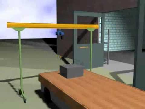 KBK Light Rail portal workstation crane