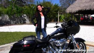 10. Used 2012 Harley-Davidson FLTRX Road Glide Custom in Vivid Black for Sale