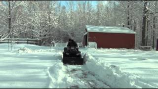 4. 2015 Polaris Sportsman 850 SP Plowing Snow
