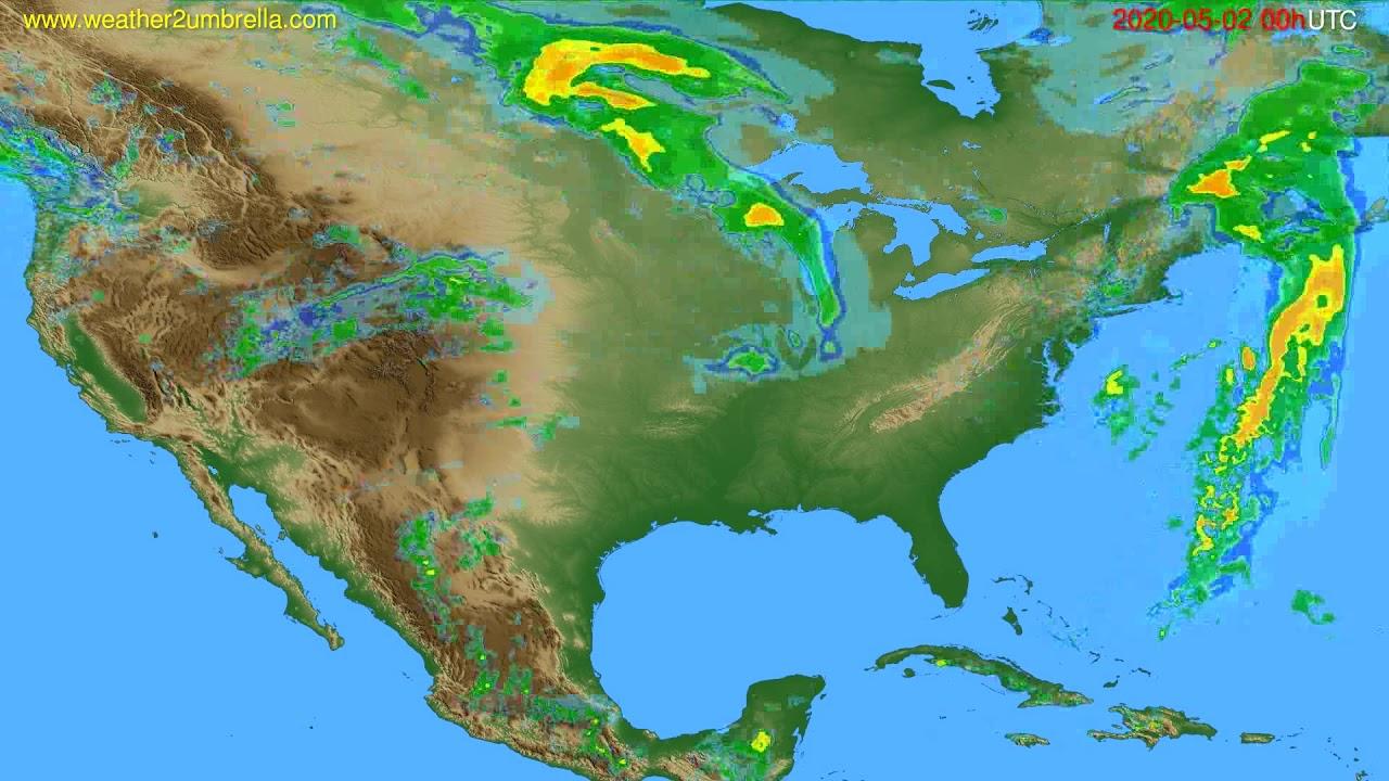 Radar forecast USA & Canada // modelrun: 12h UTC 2020-05-01