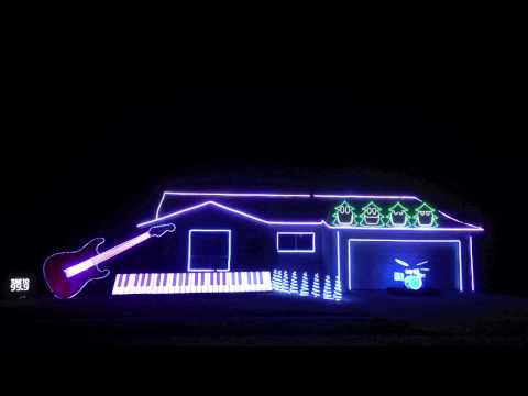 Christmas CanCan Home Light Show