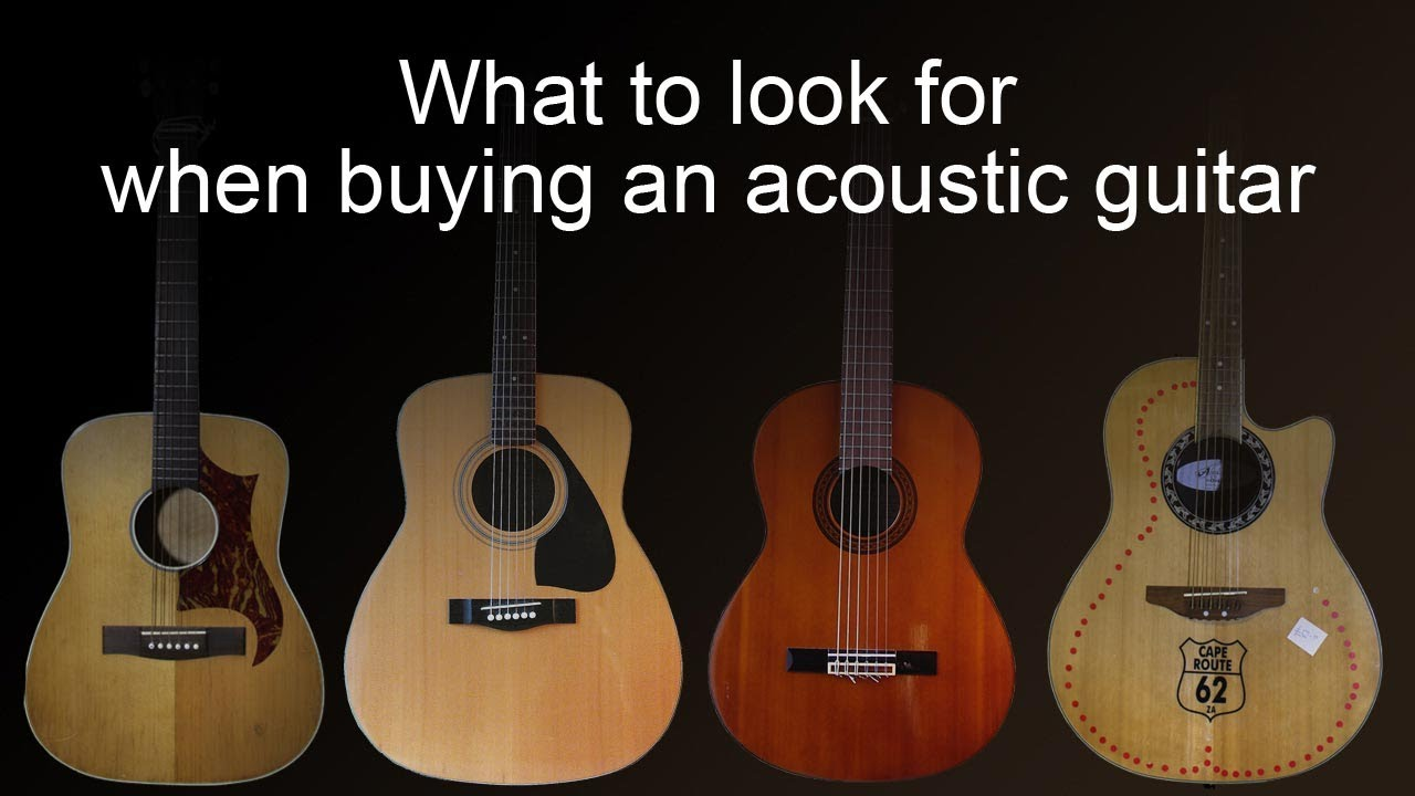 Buying an acoustic guitar –  common faults to look for