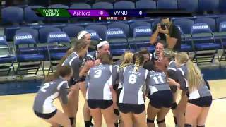 MVNU Volleyball Postgame Interviews and Highlights (MVNU vs Ashford)