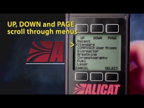 ALICAT – Using Gas Select and COMPOSER to change Flow Meter and Controller Calibration