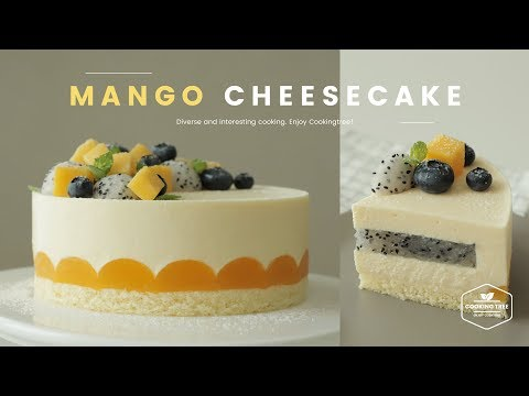용과 망고 치즈케이크 만들기 : Dragon Fruit Mango Cheesecake Recipe - Cooking Tree 쿠킹트리*Cooking ASMR