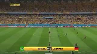 O trágico 7 a 1 que a Alemanha impôs ao Brasil na semifinal da Copa do Mundo de 2014.A Alemanha jogando sozinha.