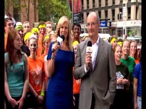 O\'Week 2013 PT Rally - New Collegians on Channel 7\'s \'Sunrise\'