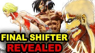 Final 9th Titan Shifter Revealed in Attack on Titan Chapter 95 manga!War hammer Titan final shifter revealed in Shingeki no Kyojin chapter 95 - 9th Titan Shifter (Shingeki no Kyojin) 進撃の巨人Subscribe!! New Anime Facts video Weekly & Anime News 😄►► http://bit.ly/AnimeFansUniteNewest Attack on Titan Chapter 95 unveiled the War Hammer Titan!This War Hammer Titan is part of the Faybar family (fieber) that revealed against King Fritz in the Great Titan War over 100 years ago!Attack on Titan Season 3 confirmed for Spring 2018!!https://www.youtube.com/watch?v=MLJoTJkv6Q4&t=4sOfficial Attack on Titan Season 3 teaser Trailer released here:https://www.youtube.com/watch?v=oCpa4UgHlgAAttack on Titan Season 3 is confirmed for Anime Spring 2018 Season!!Watch  10 Mikasa Ackerman Facts You Didn't Know►► https://www.youtube.com/watch?v=xuCKL5JDrG8Watch  10 Levi Ackerman Facts You Didn't Know►► https://www.youtube.com/watch?v=ASUYrrCEuTcMore Recommended Attack on Titan Videos:------------------------------------------------------------------------Why Attack on Titan Season 2 Only Got 12 Episodes!https://www.youtube.com/watch?v=E368NwHWZAcDoes Mikasa Love Eren? https://www.youtube.com/watch?v=uuAT4jL-JfsWhat is Eren's Titan Scream Ability?https://www.youtube.com/watch?v=AtA7lyHwDg4