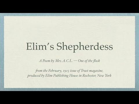 Elim's Shepherdess