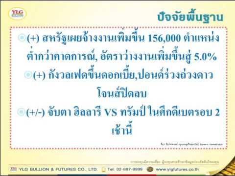 YLG บทวิเคราะห์ราคาทองคำประจำวัน 10-10-16