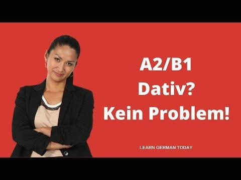 Deutsche Grammatik | DATIV? KEIN PROBLEM! | A2 |B1 | Teil 1