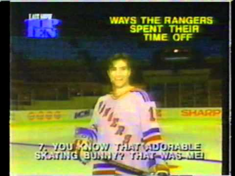 1995 NY Rangers on Letterman Top 10 - How the Rangers Spent Their Time Off