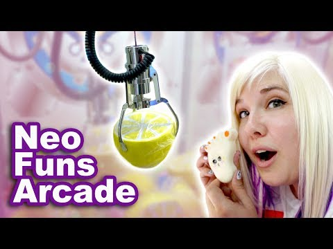 Squishy claw machines and more at NeoFuns arcade!