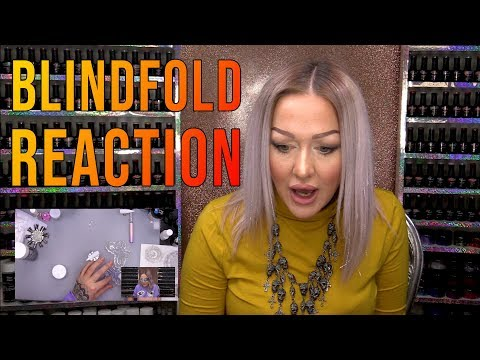 Acrylic nails - Kirsty Reacts to Herself Sculpting an Acrylic Nail Blindfolded