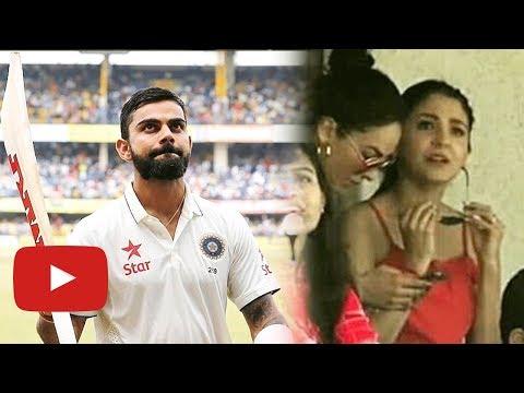 Anushka Sharma Cheering For Virat Kohli From Stand