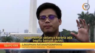 Jurnalis Thailand Terkejut Melihat Peta Indonesia