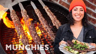 Farideh's Fire-Licked Beef Kababs by Munchies
