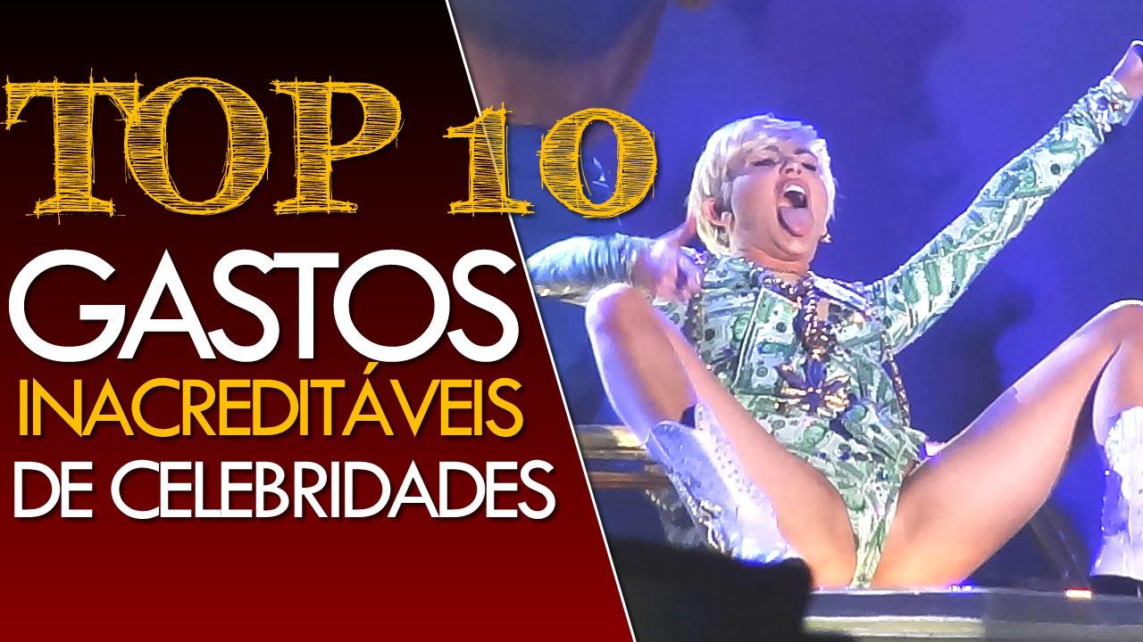 TOP 10 - GASTOS INACREDITÁVEIS DE CELEBRIDADES