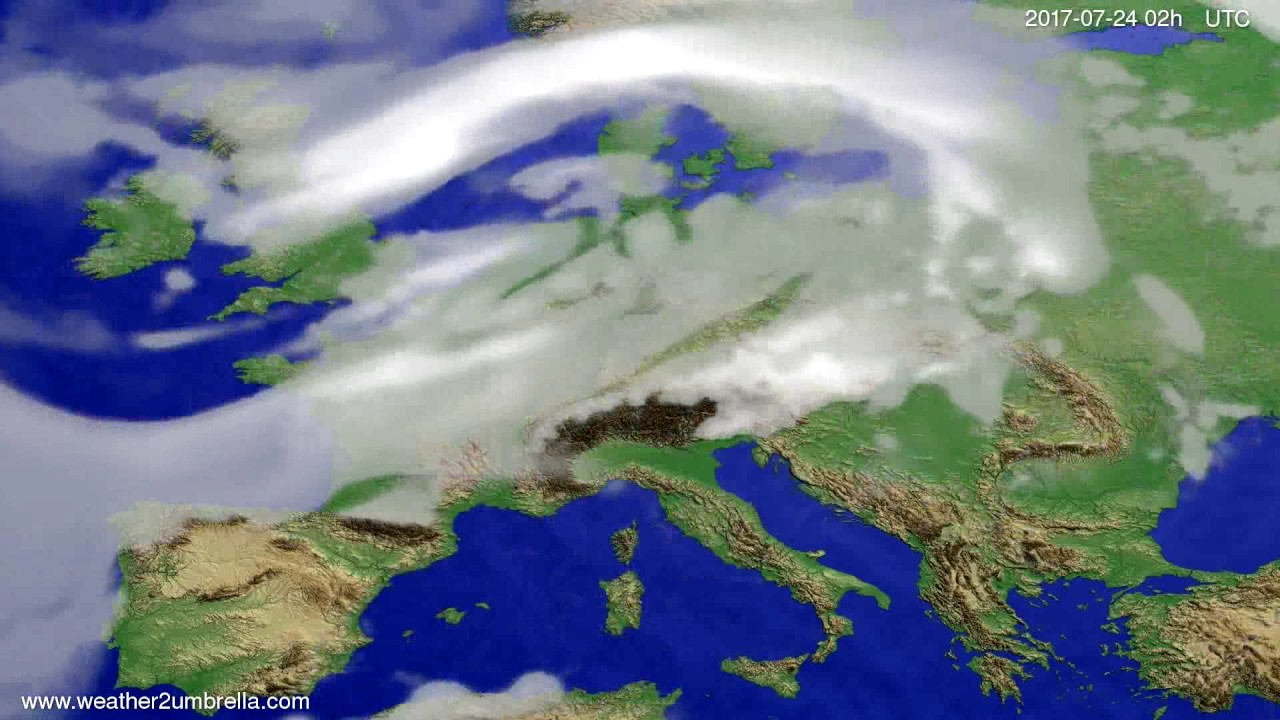 Cloud forecast Europe 2017-07-20