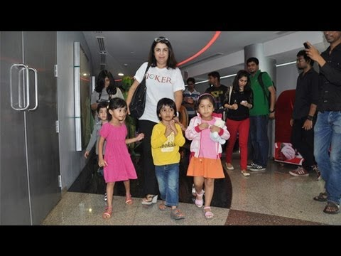 Farah Khan - Farah Khan was spotted with her cute kids at the special screening of Joker. Know more about Joker Here: http://www.moviezadda.com/movies/joker-2012.