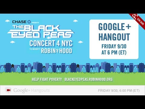 Black Eyed Peas in a Google+ Hangout on Air