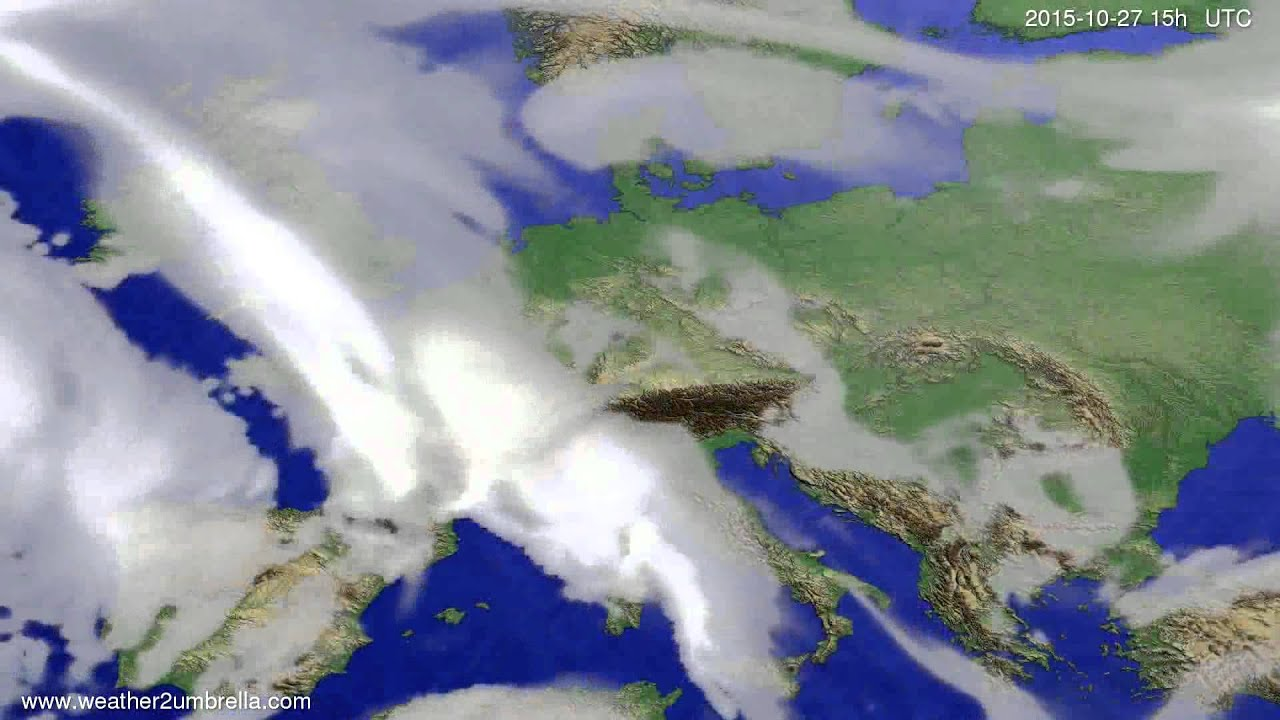Cloud forecast Europe 2015-10-25