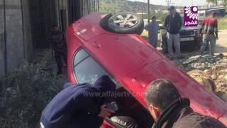 إصابات نتيجة انقلاب مركبة في ضاحية كفا جنوب طولكرم