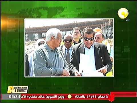 وزير النقل يتفقد اعمال إنشاء طريق شبرا - بنها الحر