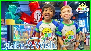 Ryan plays Indoor Games for kids with Elli at Dave and Busters   Make a Wish Edition!!