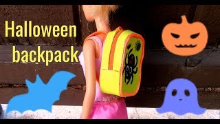 DIY Helloween  backpack  for dolls  with spider/Miniature for doll