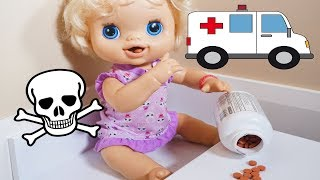 Video BABY ALIVE Emily Goes To Hospital Because She Snuck Into The Medicine! MP3, 3GP, MP4, WEBM, AVI, FLV Desember 2018