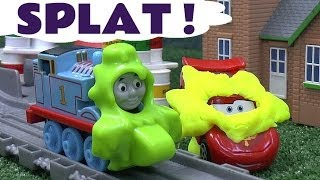 Play Doh covered Disney Cars 2 Lightning McQueen Thomas And Friends Take N Play Spills & Thrills Toy