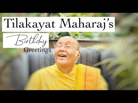 His Holiness Tilakayat Maharaj's birthday greetings from Goswami Vishal Nathdwara