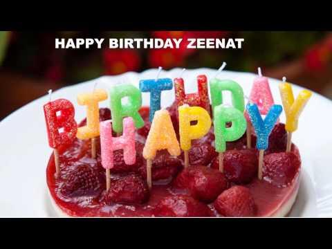 Zeenat  Cakes Pasteles - Happy Birthday