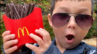 Magic McDonald's Happy Meal! chocolate French Fries and pretend Police jail