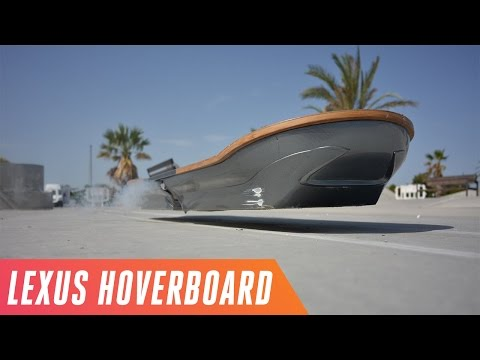 Riding the Lexus hoverboard in Spain