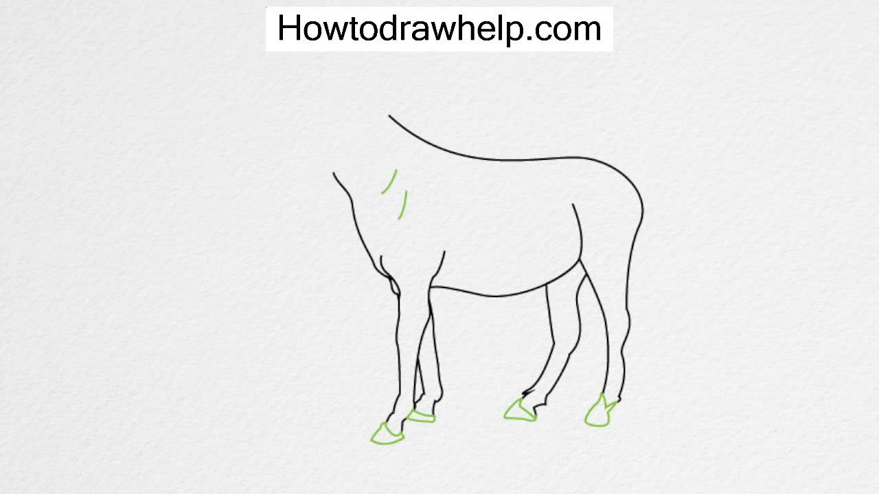 How To Draw A Horse Step By Step For Kids #howto #howtodraw How To