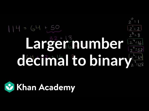 binary - Converting larger number from decimal to binary.