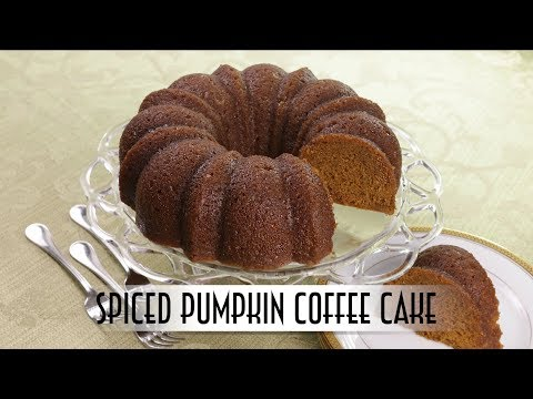 Spiced Pumpkin Coffee Cake | with Rum Butter Glaze