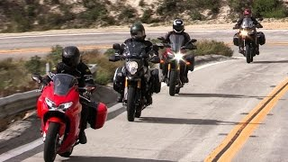 10. Honda Interceptor vs Kawasaki Versys 1000LT vs Suzuki V Strom 1000 Adventure vs Yamaha FJ-09