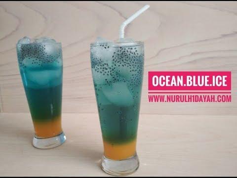 Cara Membuat Ocean Blue Ice Minuman Kekinian ala Cafe Terkenal By Nurul Hidayah