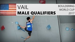 Vail Bouldering World Cup 2017   Male Qualifiers by OnBouldering